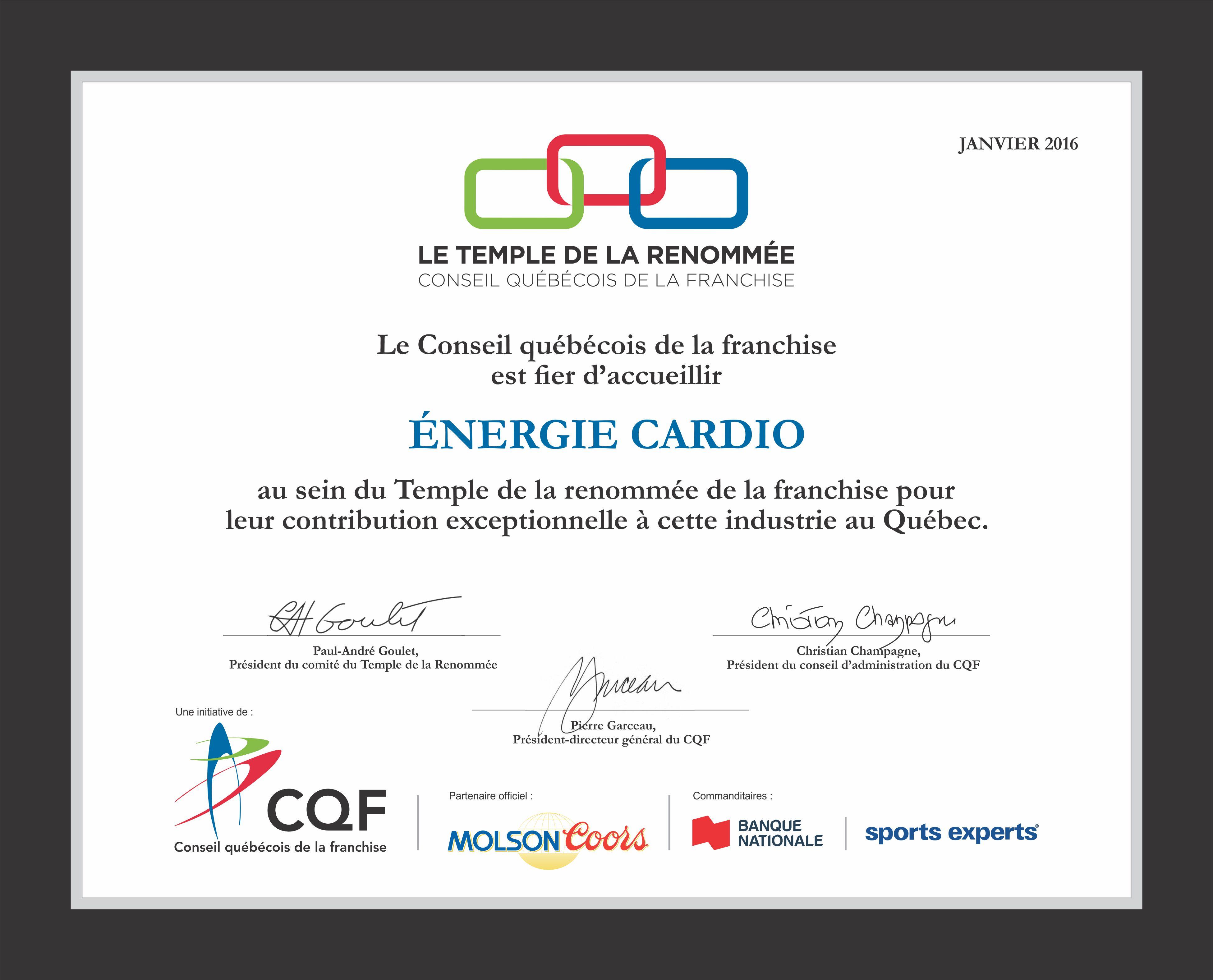 CQF ENERGIE CARDIO