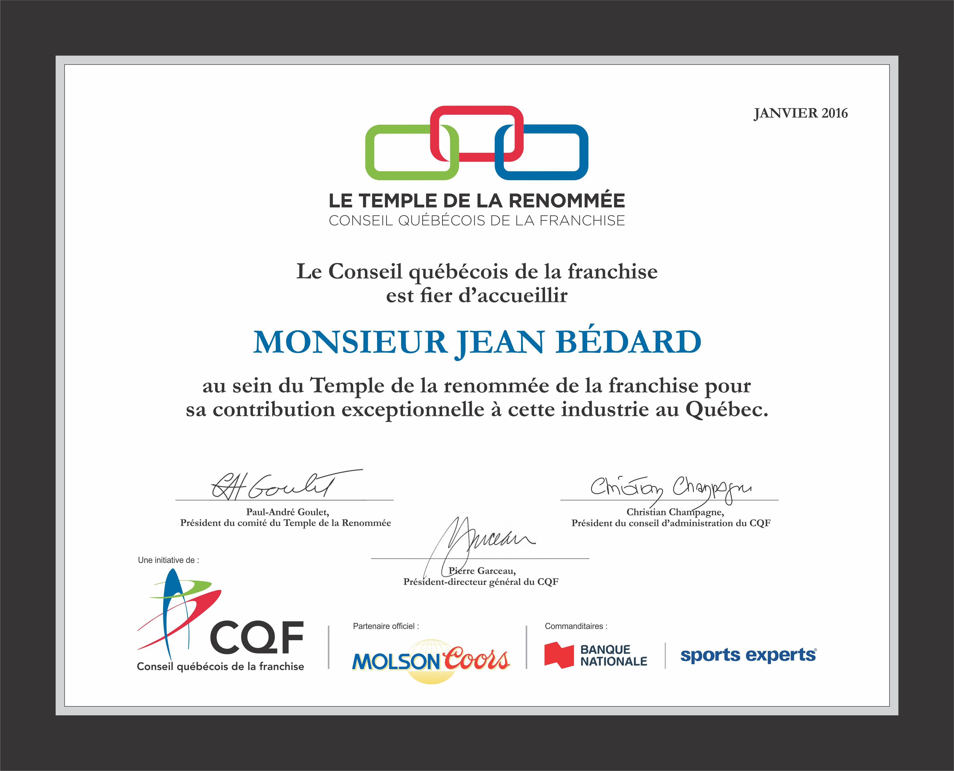 CQF J BEDARD